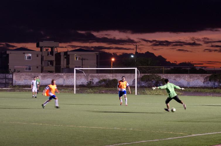 Galapaguenos Playing Soccer