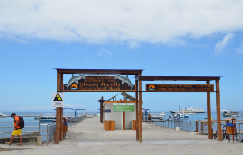 Pier at San Cristobal for Ferry Boats