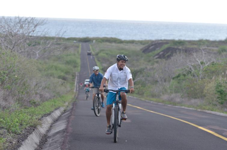 Biking in the Galapagos Islands