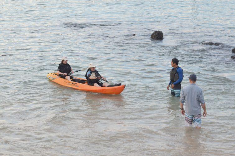 Sea Kayakers on San Cristobal Island